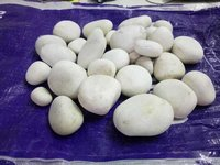 natural white river pebbles stone
