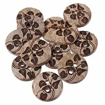 Wooden Coconut Button