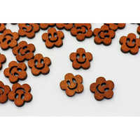 Smiley Wooden Buttons