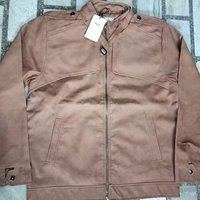 Mens Simple Leather Jacket