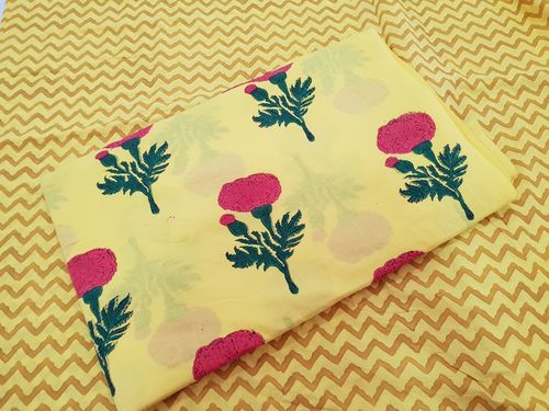 HAND DYED HAND BLOCK PRINT FABRIC BUTA PRINTED FABRIC FOR GARMENTS AND CRAF