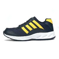 Mens Navy Blue & Yellow Shoes