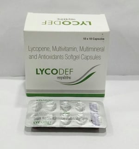 Lycopene Multivitamin Multimineral And Antioxidants Softgel Capsules