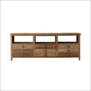 Rough Reclaimed Wooden Console Table