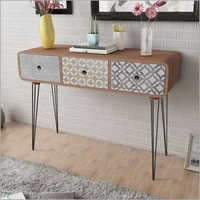 Wooden Console 3 Drawer