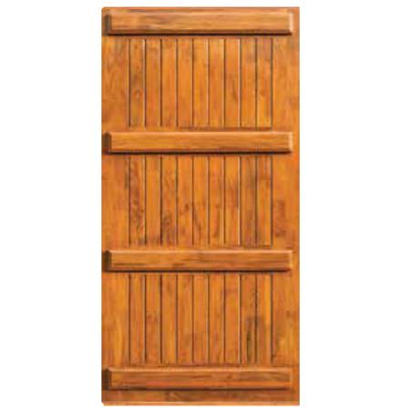 Three Panel Wooden Door