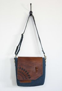 leather patch crossbody bag