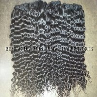 human hair curly extension
