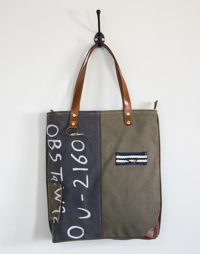 printed handwritten numbers tote