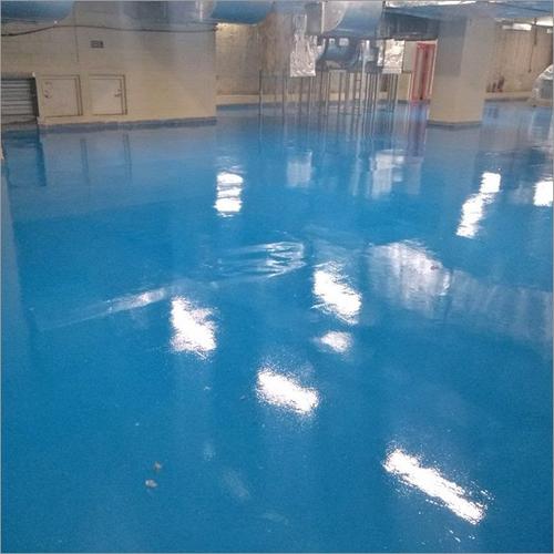 BLue epoxy Floor coating