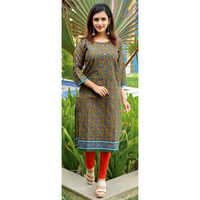 Ladies Green Long Kurti