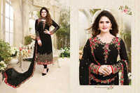 Ladies Black Embroided Georgette Dress