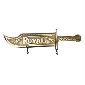 Brass Two wheeler Decoration number Plate For Bike Mudguard