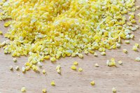 Crushed yellow corn