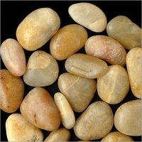 home interior decorate Natural Off White Yellow River polished Pebbles stone