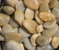 natural yellow river pebbles