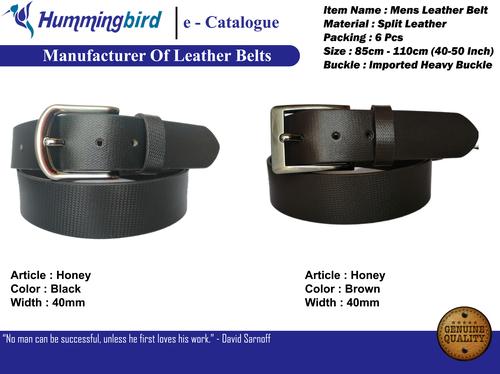 Fancy leather belts for men