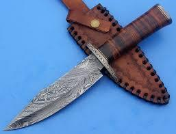 Damascus and knife