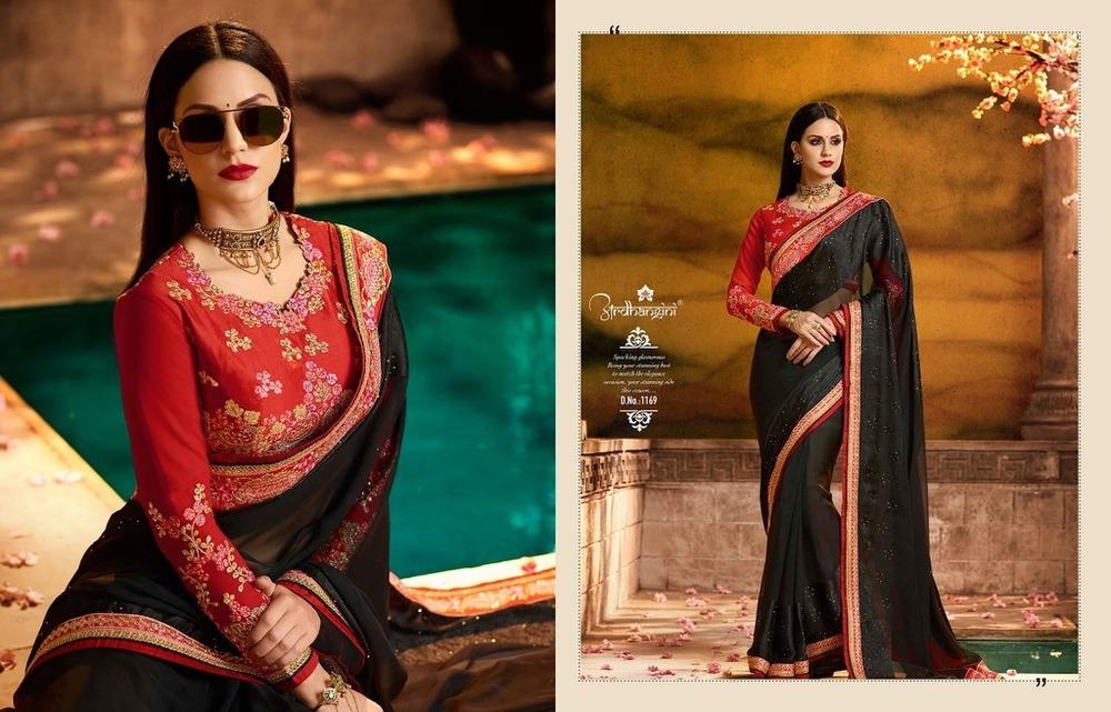 Designer Heavy Work Sarees Online
