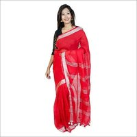Zari work Linen Saree