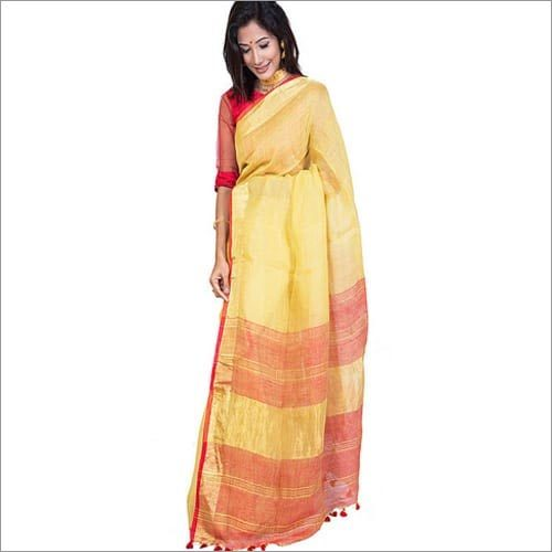 Double shaded Linen Saree