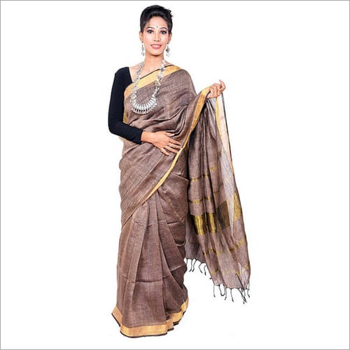 Soft traditional Linen Saree