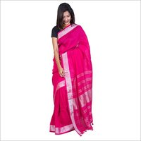 Pure linen Handloom Saree