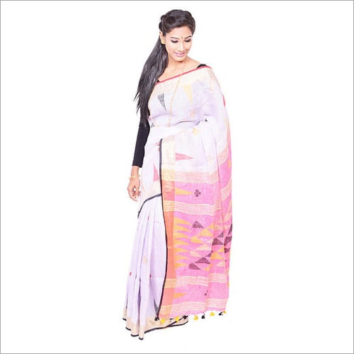 Bengal Linen Jamdani Saree