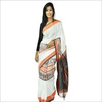 Fish Motif Cotton Saree