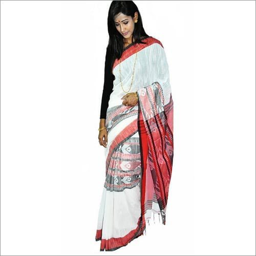 Fish Motif Cotton Handloom Saree