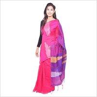 Pink Handloom Saree