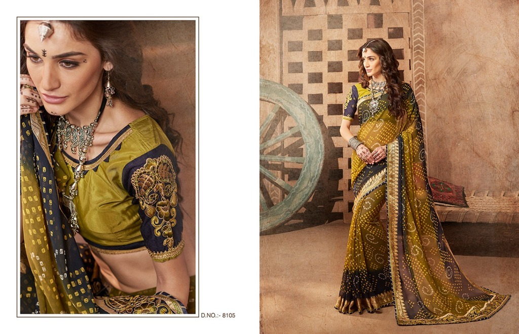 Fancy Georgette Bandhej Sarees