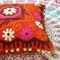 Uzbekistan pattern suzani embroidery Suzani Cushion Cover