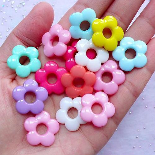 Flower Acrylic Beads