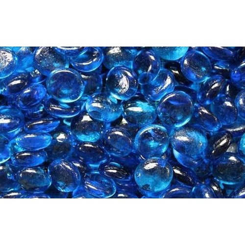 Blue Fire Glass Beads