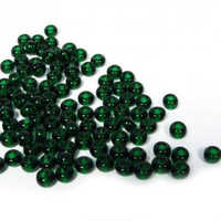 Dark Green Glass Beads