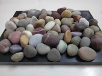 natural mix machine polished pebbles stone