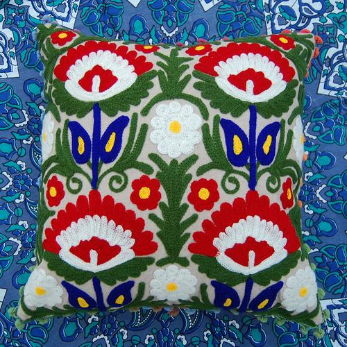 Handmade suzani embroidered square suzani Cushion Cover /pillow cases