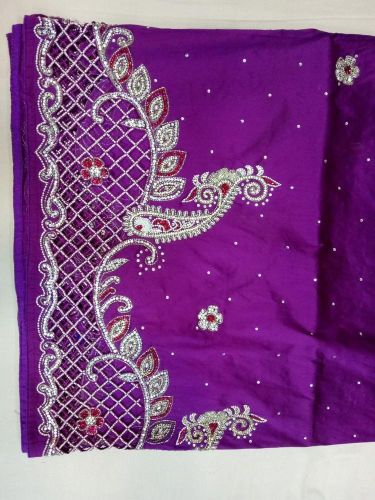New design fashion african george  High quality Nigerian satin fabric 5 yard