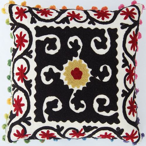 Embroidered suzani Cushion Cover