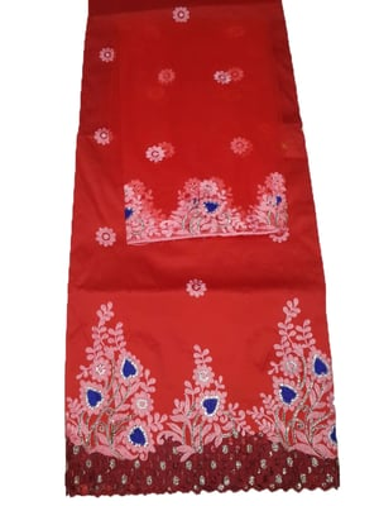 African George Fabric Pure Silk Hand Work Wedding Dress