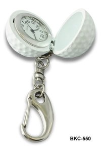 Golf Ball Key Chain with Clock