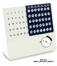 Metal Calendar with clock without Month