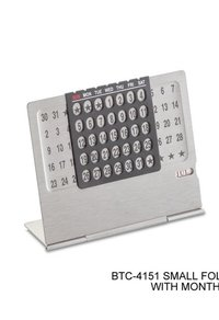 Small Metal Calendar with Month