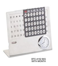 Metal Calendar Big with Clock and Month