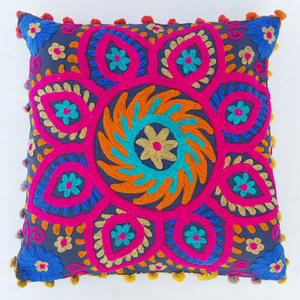 Indian Embroidered Handmade Suzani Cushion Cover / Pillow cases