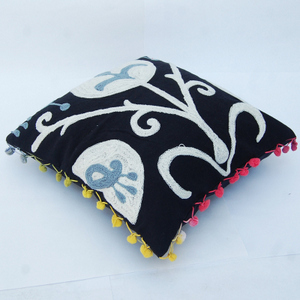 Indian Pom Pom Embroidery Pillow Cases 16x16