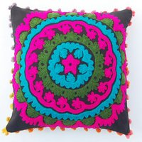 INDIAN VINTAGE EMBROIDERED PILLOW CASE 16
