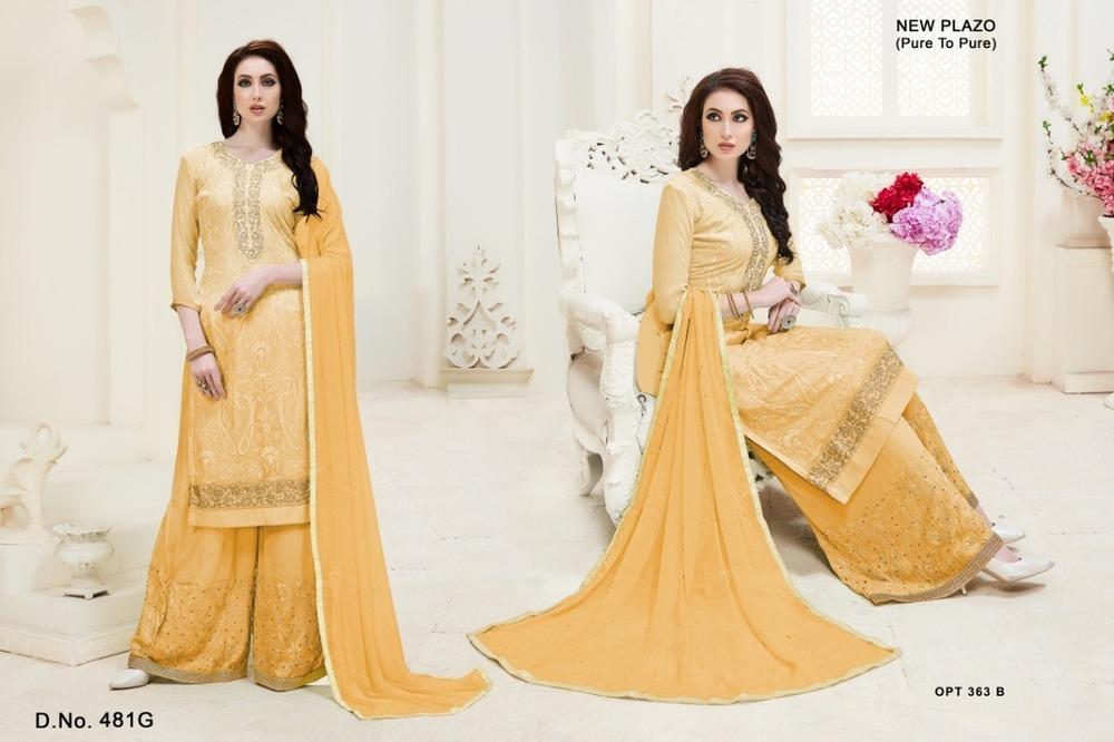 Georgette Embroidery Work Suits
