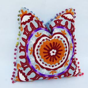 Suzani Embroidered Pillow Cushion Cover Decorative Vintage Throw Indian suzani cushion cover